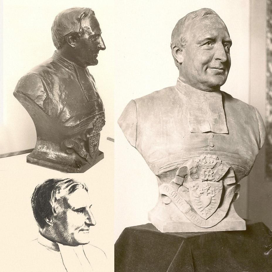 Statues of Père Modestus Glorieux